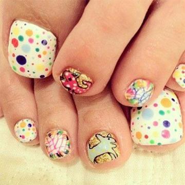 50 incredible toe nail designs ideas fmag creative toe nail design prinsesfo Images