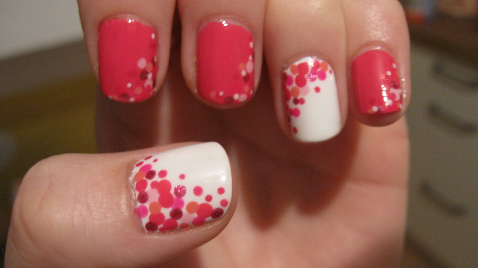 Manicure pink with white: design ideas 58