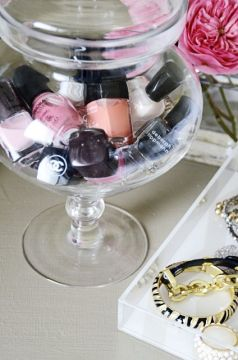 nail polish candy bowl