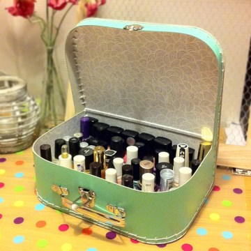 nail polish storage cute suitcase