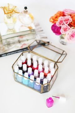nail polish storage elegant box