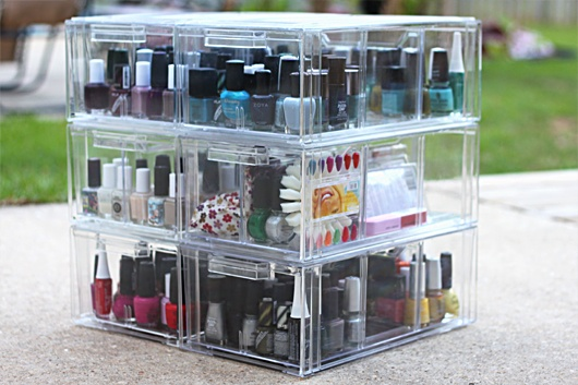 nail polish storage shoe boxes