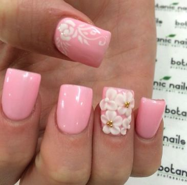 elegant pink and white nails