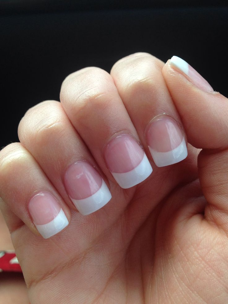 Nail Art Pink And Whites Gel Nails