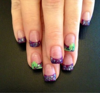 solar nails colorful tips