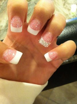 solar nails glitter