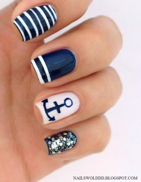 unique nail designs nautical 2
