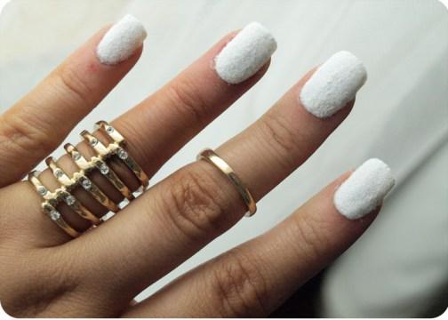 velvet white nails