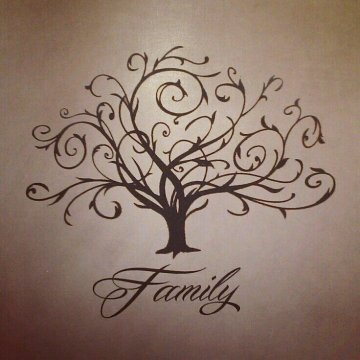 Swirly family tree tattoo