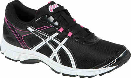 Asics Black and Pink Cushioned Walking Shoes