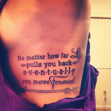 Arrow tattoo with quote