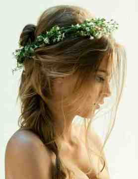 boho hair wedding