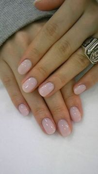 Pale pink wedding nails