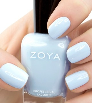 Pale blue wedding nails