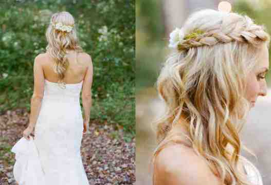 Romantinc boho Braid Bridal Hair