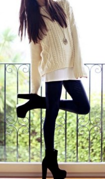 Sweater with tunic and leggings