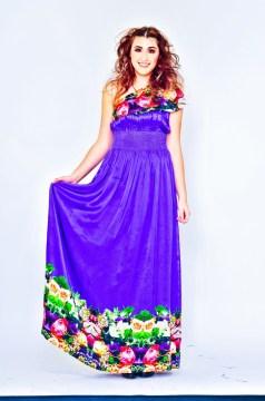 Full-length Violet Resort Dress