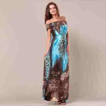 bohemian lotus leaf resort wear dress