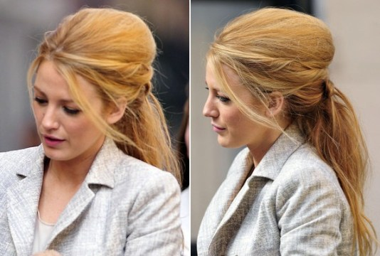 Big Messy Bouffant Ponytail Hairstyle