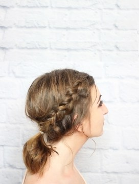 Braided Ponytail Hairstyle for Short Hair