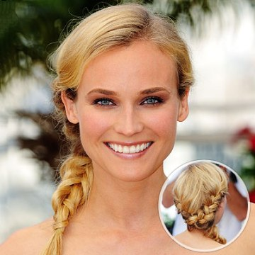 Double Side Braided Ponytail Hairstyle