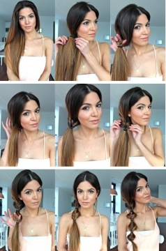 Twisted Side Ponytail Hairstyle How To