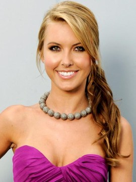 Audrina Patridge Side Ponytail