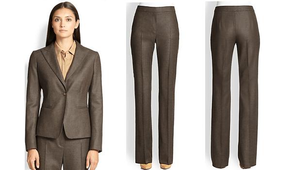 Brown Women's Silk Suit