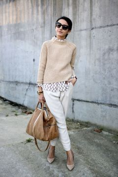 Work outfit with neutrals