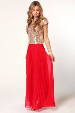 Fancy maxi skirt outfit