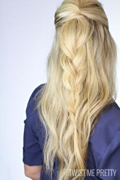 Braided quick hairstyle