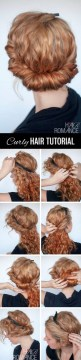 Easy curly hairstyle
