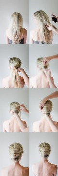 Quick and easy chignon