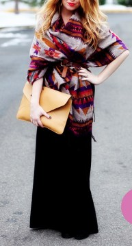Maxi skirt with coat