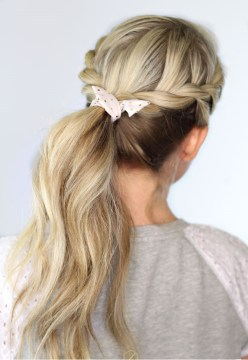 Bohemian Twisted Ponytail
