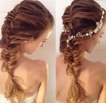 French Fishtail Braid with Accessory