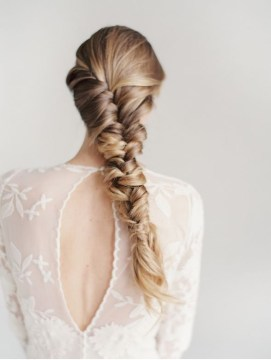 Staircase Braid Ponytail Hairstyle
