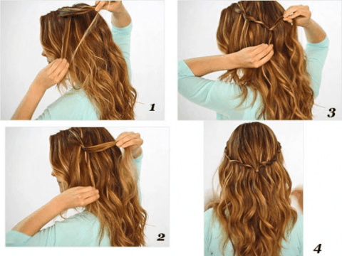 Twisted Curls DIY Hairstyle