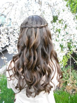 Waterfall Braid for Weddings