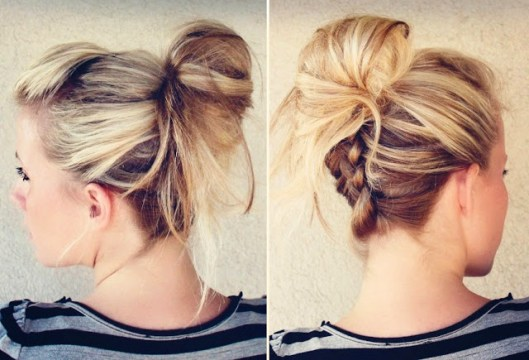 French Braid Top Knot (Side and Back View)