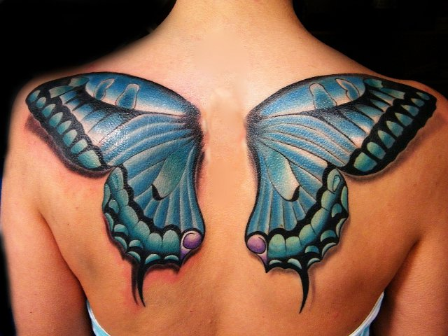8c9853e05466a 50+ Butterfly Tattoos with Meanings (2D & 3D) | FMag.com