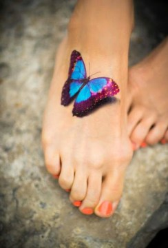 3D Butterfly on Toe