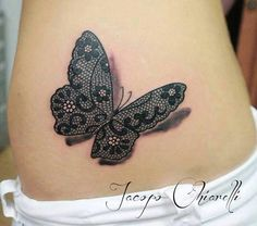 3D Doodle Butterfly Tattoo