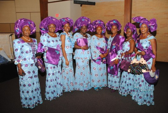 purple-blue blend on aso ebi