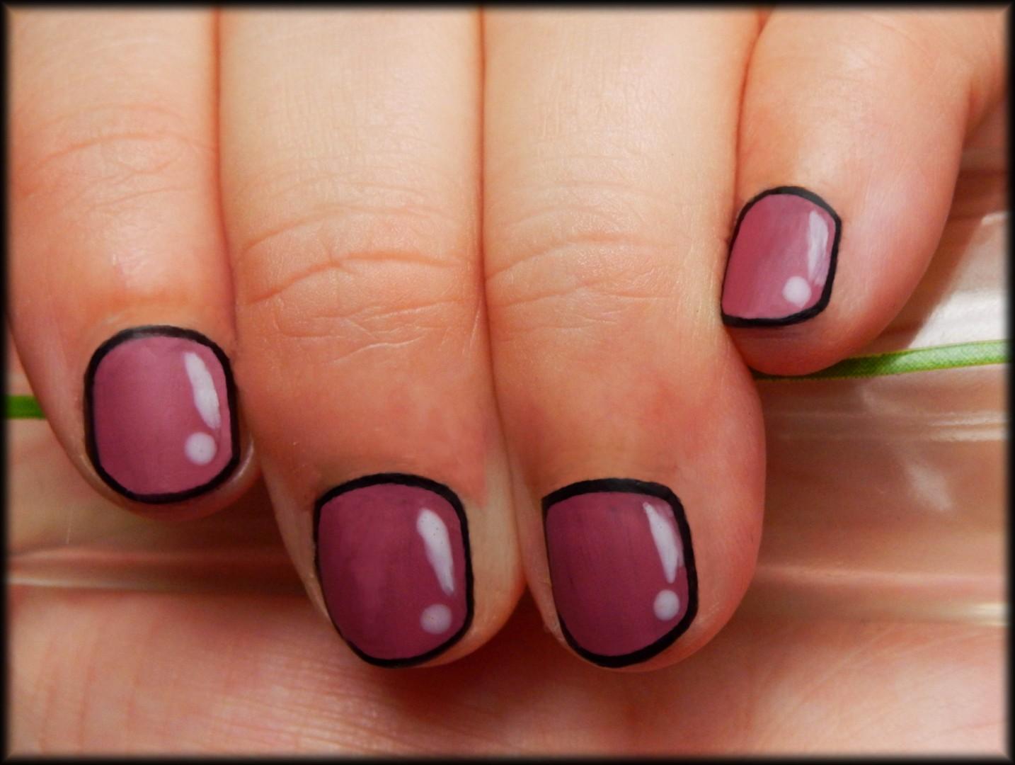 Animated Deep Pink Short Nails - FMag.com