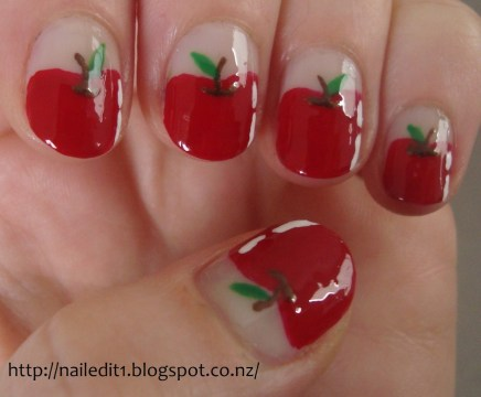 Apple short nails.