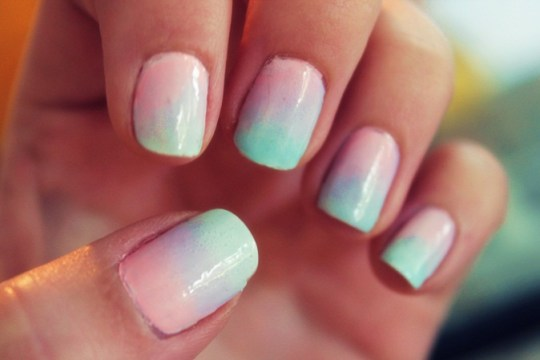 Bridal Pastel Ombre Nails