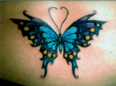 Celtic Blue Butterfly Tattoo