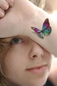 Colorful 3D Butterfly on Wrist