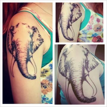 Elephan Head Tattoo